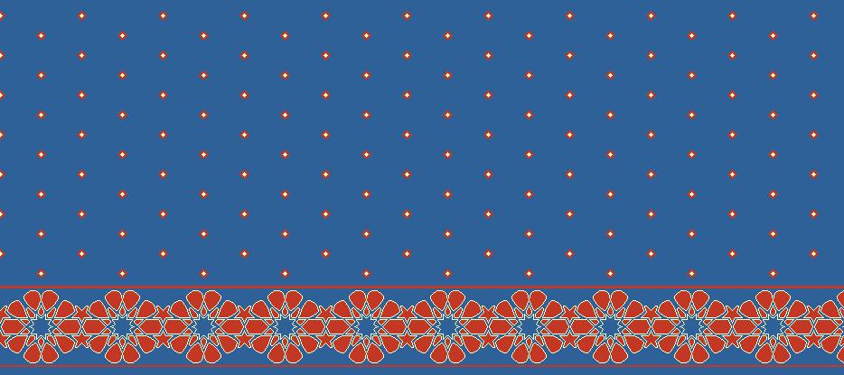 Safli Cami Halisi Model 1370 - Mavi