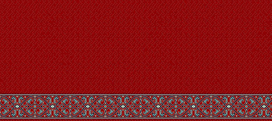 Safli Cami Halisi Model 1390 - Kırmızı