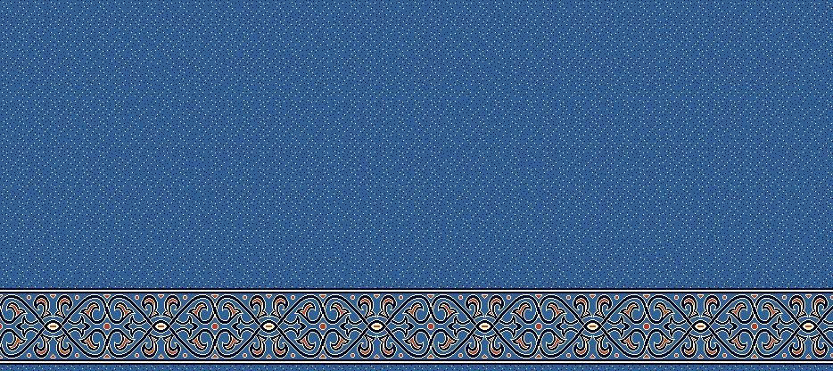 Safli Cami Halisi Model 1390 - Mavi