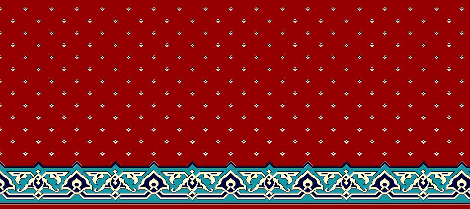 Safli Cami Halisi Model 1400 - Kırmızı