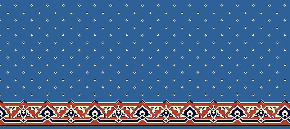 Safli Cami Halisi Model 1400 - Mavi