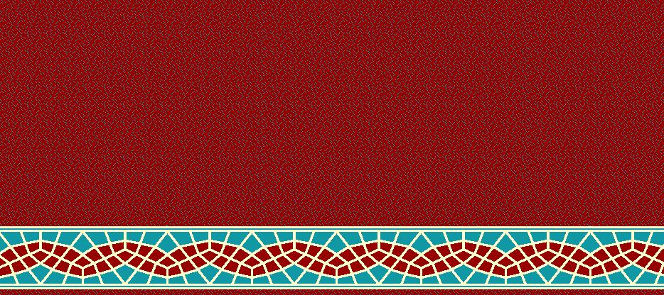Safli Cami Halisi Model 1410 - Kırmızı