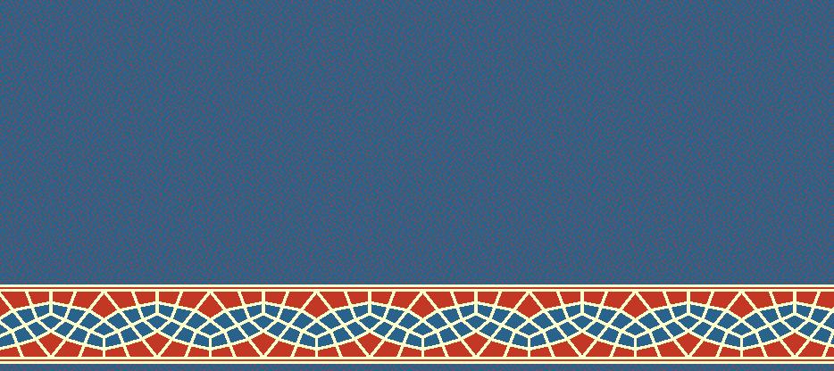 Safli Cami Halisi Model 1410 - Mavi