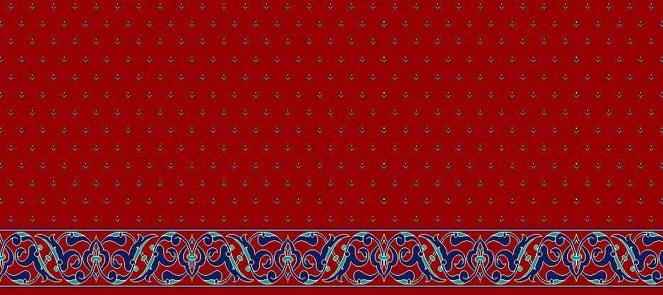 Safli Cami Halisi Model 1420 - Kırmızı