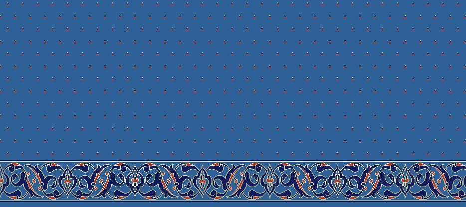 Safli Cami Halisi Model 1420 - Mavi
