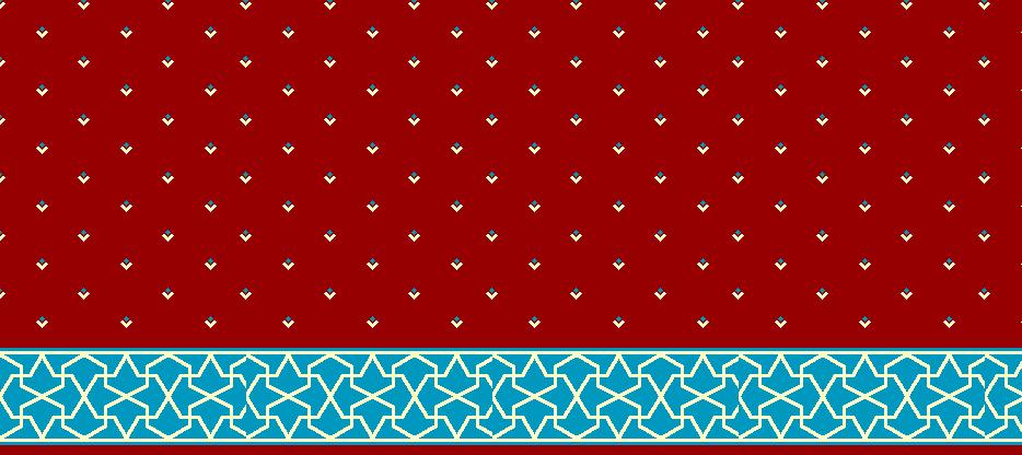 Safli Cami Halisi Model 1450 - Kırmızı