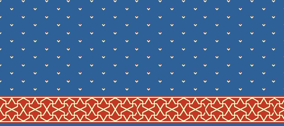 Safli Cami Halisi Model 1450 - Mavi