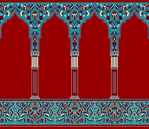 Seccadeli Hali Model 2030 - Kırmızı