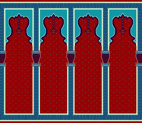 Seccadeli Hali Model 2040 - Kırmızı